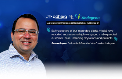 Adhera Therapeutics and Indegene Announce Next Gen Commercialization Partnership